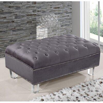 Hettie Ottoman Upholstery: Gray