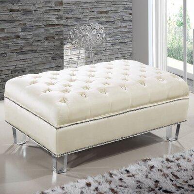 Hettie Ottoman Upholstery: Cream
