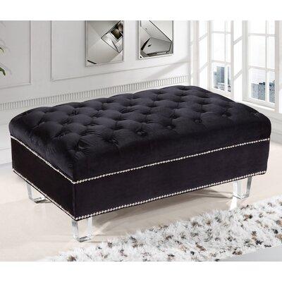 Kemp Ottoman Upholstery: Black