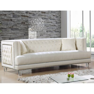 Hettie Chesterfield Sofa Upholstery: Cream