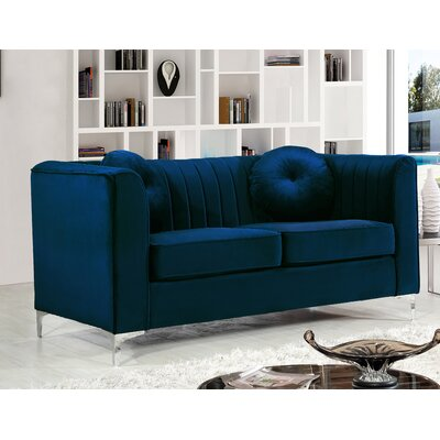 Herbert Chesterfield Loveseat Upholstery: Navy