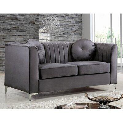 Glenwood Loveseat Upholstery: Gray