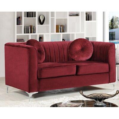 Glenwood Loveseat Upholstery: Burgundy