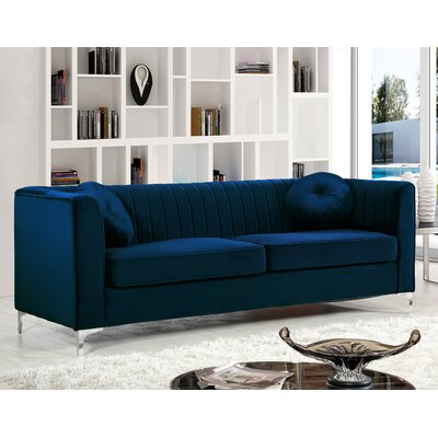 Herbert Chesterfield Sofa Upholstery: Navy