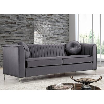 Herbert Chesterfield Sofa Upholstery: Gray