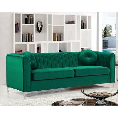 Herbert Chesterfield Sofa Upholstery: Green