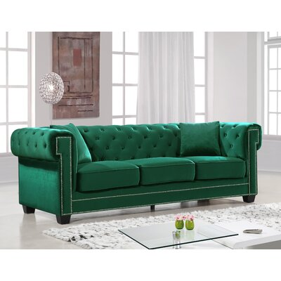 Hilaire Chesterfield Sofa Upholstery: Green