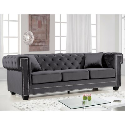 Hilaire Chesterfield Sofa Upholstery: Gray