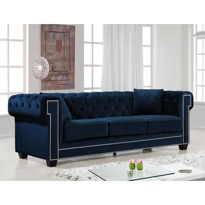 Hilaire Chesterfield Sofa Upholstery: Navy