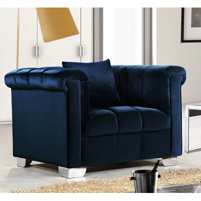 Warden Arm Chair Upholstery: Navy