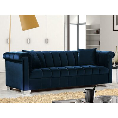 Henriette Chesterfield Sofa Upholstery: Navy