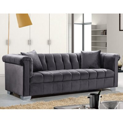 Henriette Chesterfield Sofa Upholstery: Gray