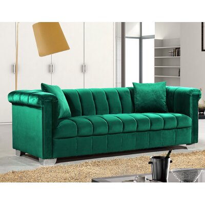 Henriette Chesterfield Sofa Upholstery: Green