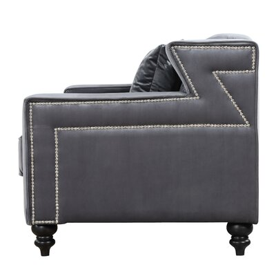 Honore Armchair Upholstery: Gray