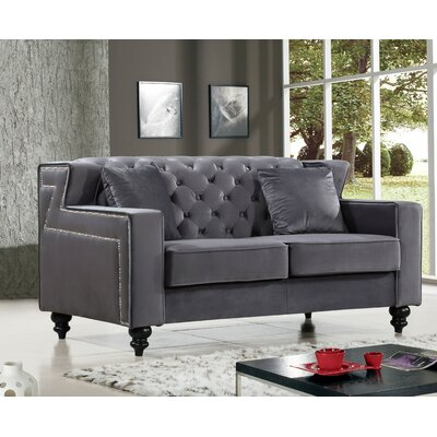 Honore Loveseat Upholstery: Gray