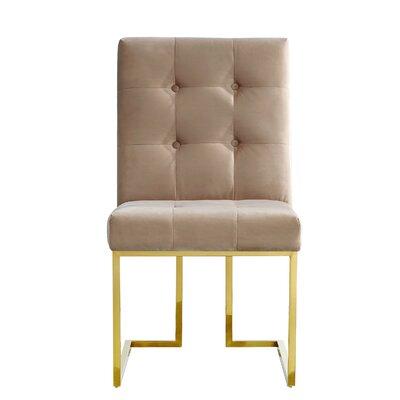 Robey Velvet Parsons Chair Upholstery: Beige