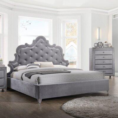 Spence Velvet Platform Customizable Bedroom Set
