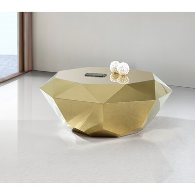 Manor Coffee Table Color: Gold