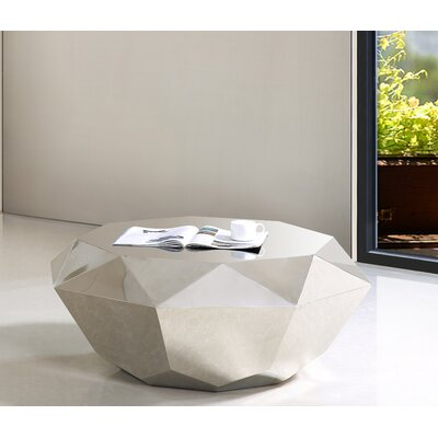 Manor Coffee Table Finish: Silver
