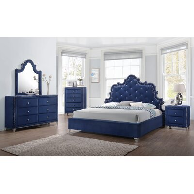 Malone Velvet Platform Configurable Bedroom Set