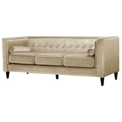 Roberta Chesterfield Sofa Upholstery: Beige