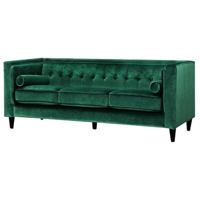 Roberta Chesterfield Sofa Upholstery: Green