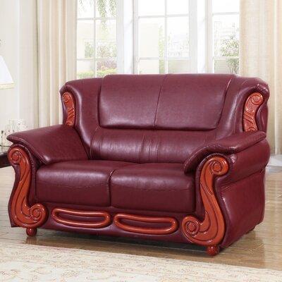 Adaline Loveseat Upholstery: Burgundy