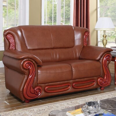 Adaline Loveseat Upholstery: Brown