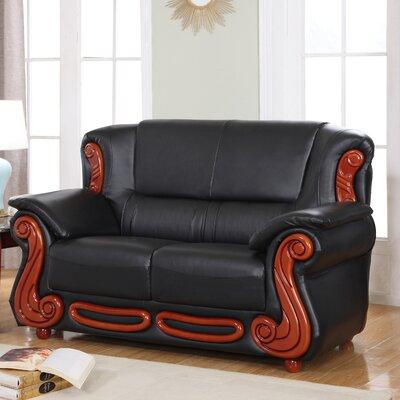 Adaline Loveseat Upholstery: Black