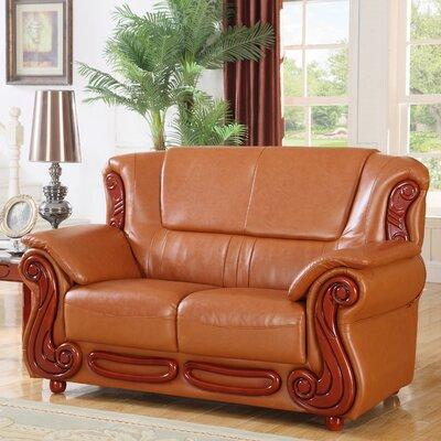 Adaline Loveseat Upholstery: Cognac