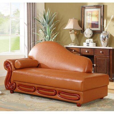 Adaline Chaise Lounge Upholstery: Khaki