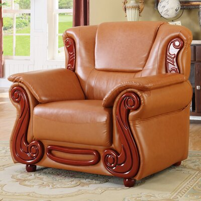 Adaline Club Chair Upholstery: Cognac