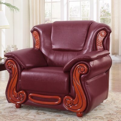 Adaline Club Chair Upholstery: Burgundy