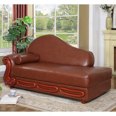 Adaline Chaise Lounge Upholstery: Brown