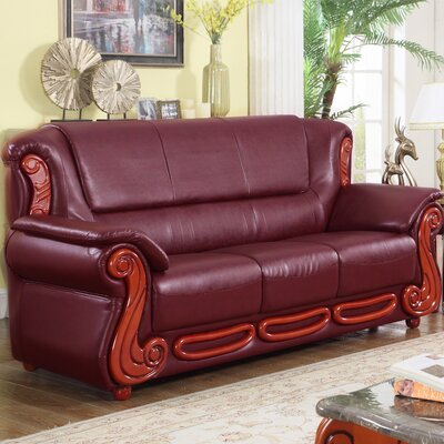 Adaline Sofa Upholstery: Burgundy