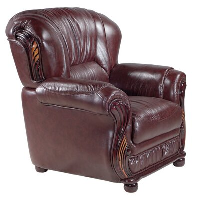 Abbey Club Chair Upholstery: Burgundy