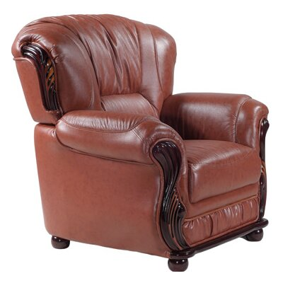 Abbey Club Chair Upholstery: Brown