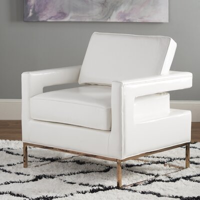 Madison Club Chair Upholstery: White