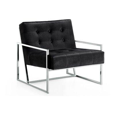 Ronni Armchair Upholstery: Black