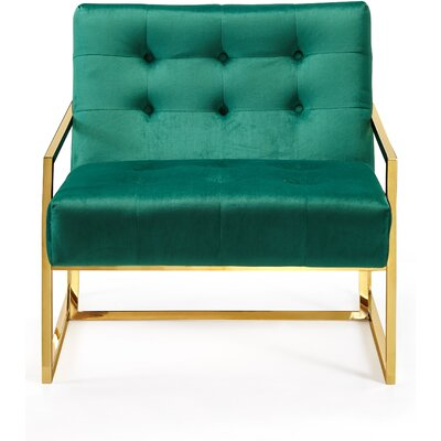 Jani Armchair Upholstery: Green