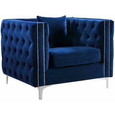 Loretta Armchair Upholstery: Navy