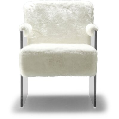 Pamella Fur Armchair Upholstery: White