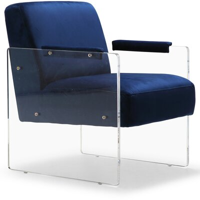 Apollonia Armchair Upholstery: Navy