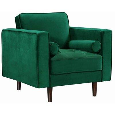 Pamula Velvet Armchair Upholstery: Green
