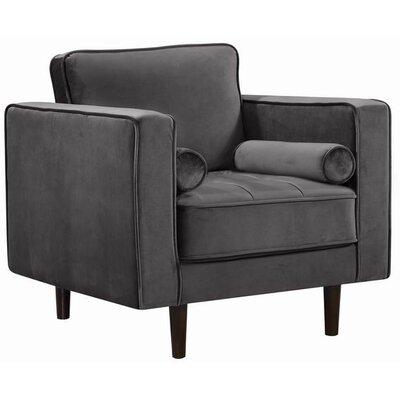 Pamula Velvet Armchair Upholstery: Gray