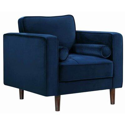 Pamula Velvet Armchair Upholstery: Navy