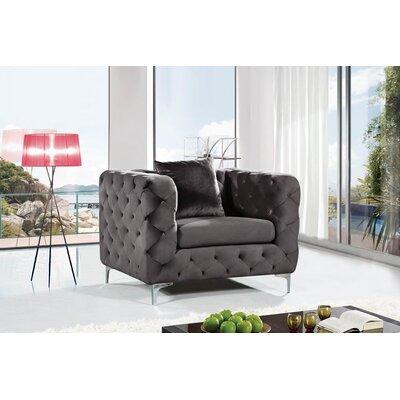 Patrina Velvet Armchair Upholstery: Cream