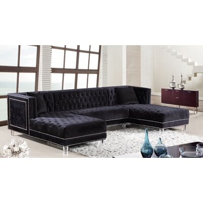 Paulene Sectional Upholstery: Black