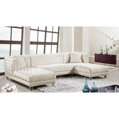 Paulene Sectional Upholstery: Cream