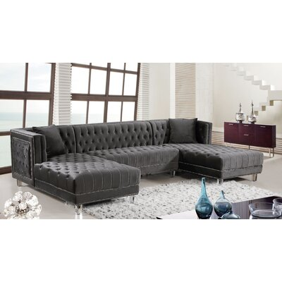 Paulene Sectional Upholstery: Gray